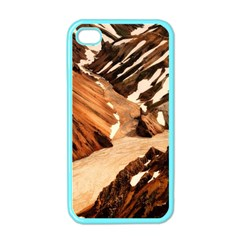 Iceland Mountains Snow Ravine Apple Iphone 4 Case (color)