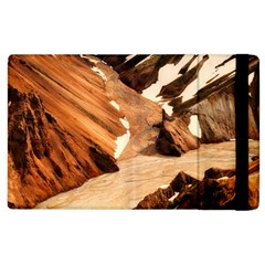 Iceland Mountains Snow Ravine Apple Ipad 2 Flip Case