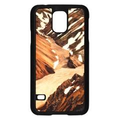 Iceland Mountains Snow Ravine Samsung Galaxy S5 Case (black)