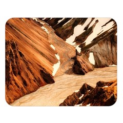 Iceland Mountains Snow Ravine Double Sided Flano Blanket (large)