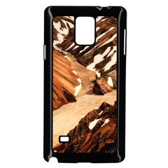 Iceland Mountains Snow Ravine Samsung Galaxy Note 4 Case (black)