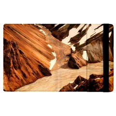 Iceland Mountains Snow Ravine Apple Ipad Pro 9 7   Flip Case