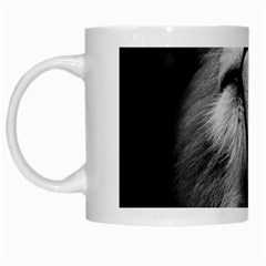 Feline Lion Tawny African Zoo White Mugs