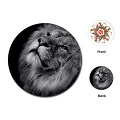 Feline Lion Tawny African Zoo Playing Cards (round)