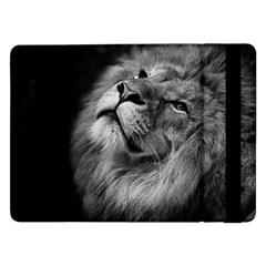 Feline Lion Tawny African Zoo Samsung Galaxy Tab Pro 12 2  Flip Case