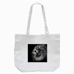 Feline Lion Tawny African Zoo Tote Bag (white)