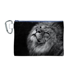 Feline Lion Tawny African Zoo Canvas Cosmetic Bag (m)