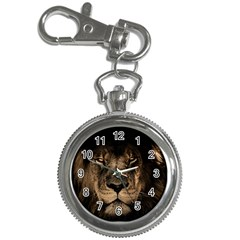 African Lion Mane Close Eyes Key Chain Watches