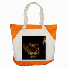 African Lion Mane Close Eyes Accent Tote Bag