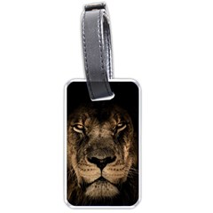 African Lion Mane Close Eyes Luggage Tags (one Side)