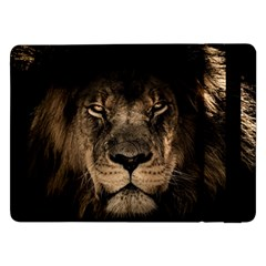 African Lion Mane Close Eyes Samsung Galaxy Tab Pro 12 2  Flip Case