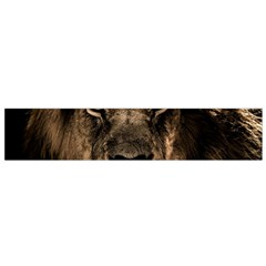 African Lion Mane Close Eyes Small Flano Scarf