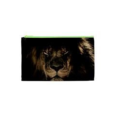 African Lion Mane Close Eyes Cosmetic Bag (xs)
