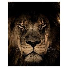 African Lion Mane Close Eyes Drawstring Bag (small)