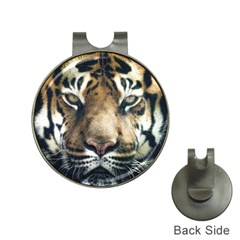 Tiger Bengal Stripes Eyes Close Hat Clips With Golf Markers