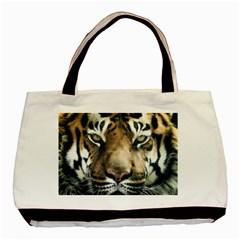 Tiger Bengal Stripes Eyes Close Basic Tote Bag
