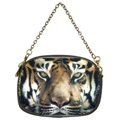 Tiger Bengal Stripes Eyes Close Chain Purses (one Side)