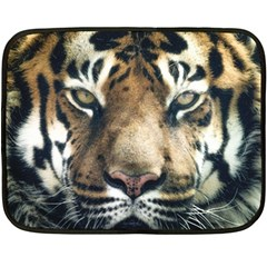 Tiger Bengal Stripes Eyes Close Fleece Blanket (mini)