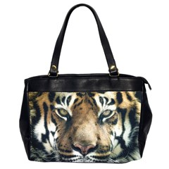 Tiger Bengal Stripes Eyes Close Office Handbags (2 Sides)
