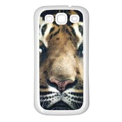 Tiger Bengal Stripes Eyes Close Samsung Galaxy S3 Back Case (white)