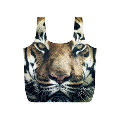 Tiger Bengal Stripes Eyes Close Full Print Recycle Bags (s)