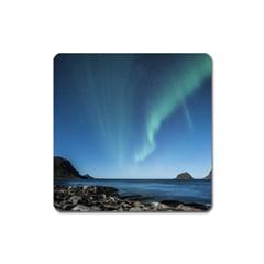 Aurora Borealis Lofoten Norway Square Magnet