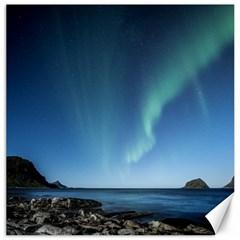 Aurora Borealis Lofoten Norway Canvas 16  X 16