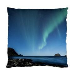 Aurora Borealis Lofoten Norway Standard Cushion Case (two Sides)