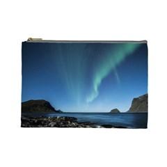 Aurora Borealis Lofoten Norway Cosmetic Bag (large)