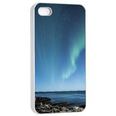Aurora Borealis Lofoten Norway Apple Iphone 4/4s Seamless Case (white)