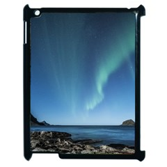 Aurora Borealis Lofoten Norway Apple Ipad 2 Case (black)
