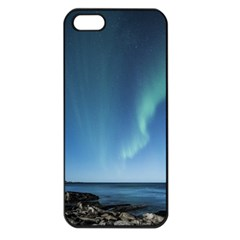 Aurora Borealis Lofoten Norway Apple Iphone 5 Seamless Case (black)