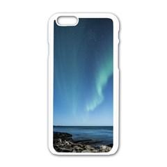 Aurora Borealis Lofoten Norway Apple Iphone 6/6s White Enamel Case