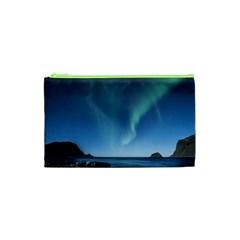 Aurora Borealis Lofoten Norway Cosmetic Bag (xs)