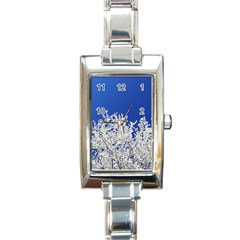 Crown Aesthetic Branches Hoarfrost Rectangle Italian Charm Watch