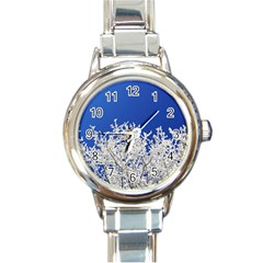 Crown Aesthetic Branches Hoarfrost Round Italian Charm Watch