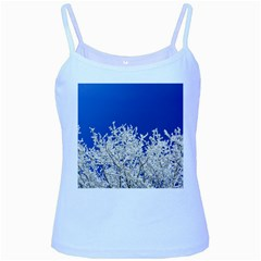 Crown Aesthetic Branches Hoarfrost Baby Blue Spaghetti Tank