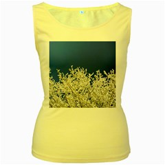 Crown Aesthetic Branches Hoarfrost Women s Yellow Tank Top