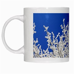 Crown Aesthetic Branches Hoarfrost White Mugs
