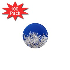 Crown Aesthetic Branches Hoarfrost 1  Mini Magnets (100 Pack)