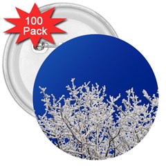 Crown Aesthetic Branches Hoarfrost 3  Buttons (100 Pack)