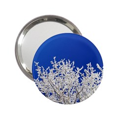 Crown Aesthetic Branches Hoarfrost 2 25  Handbag Mirrors