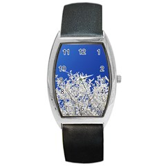 Crown Aesthetic Branches Hoarfrost Barrel Style Metal Watch