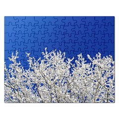 Crown Aesthetic Branches Hoarfrost Rectangular Jigsaw Puzzl