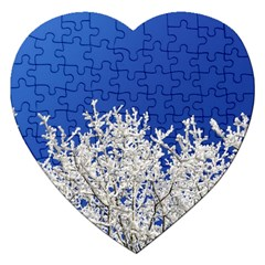 Crown Aesthetic Branches Hoarfrost Jigsaw Puzzle (heart)