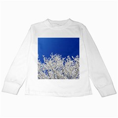 Crown Aesthetic Branches Hoarfrost Kids Long Sleeve T Shirts