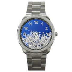 Crown Aesthetic Branches Hoarfrost Sport Metal Watch