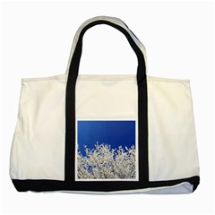 Crown Aesthetic Branches Hoarfrost Two Tone Tote Bag
