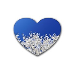 Crown Aesthetic Branches Hoarfrost Heart Coaster (4 Pack)