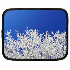 Crown Aesthetic Branches Hoarfrost Netbook Case (large)